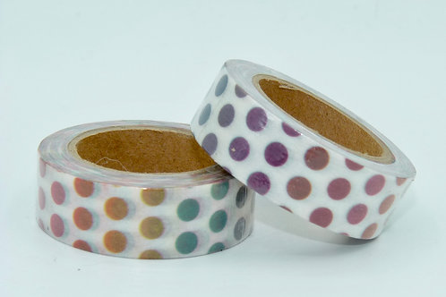 W288 - Masking tape pois multicolores
