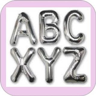 Ballon Lettre mylar Argent  40 cm
