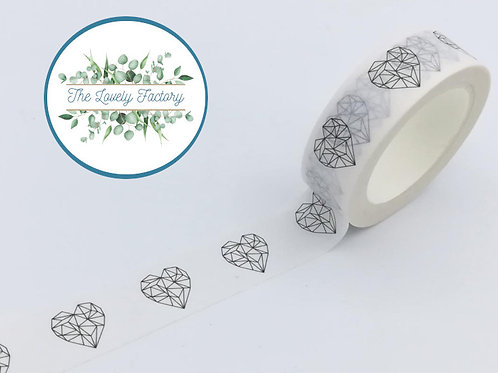 Masking tape coeur origami 15mm x 10m