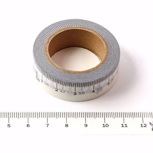 Masking tape noir mètre couture blancs  design  15mm x 10m