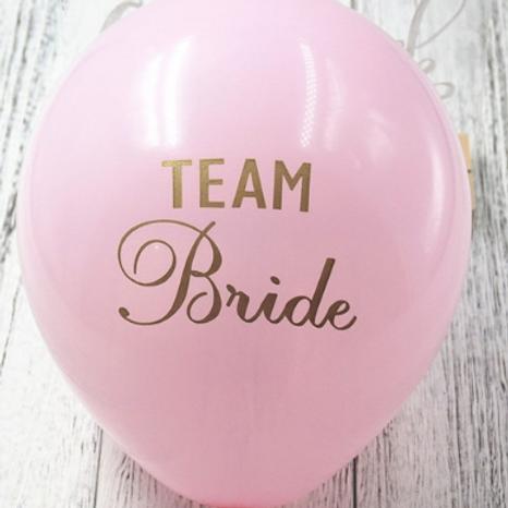 10 Ballons latex rose Team Bride or 30cm  fête soirée evjf mariage