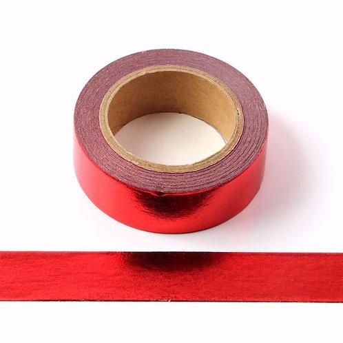 F082- Masking tape métallique 15mm foil rouge