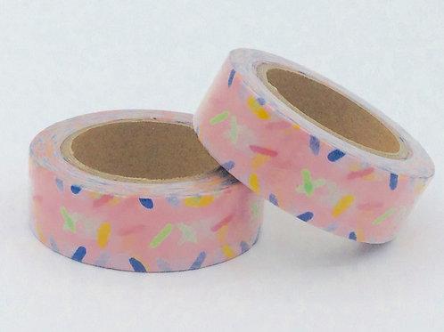 W070 -  Rose confettis colorés