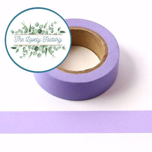 Masking tape violet clair couleur uni basique  design  15mm x 10m