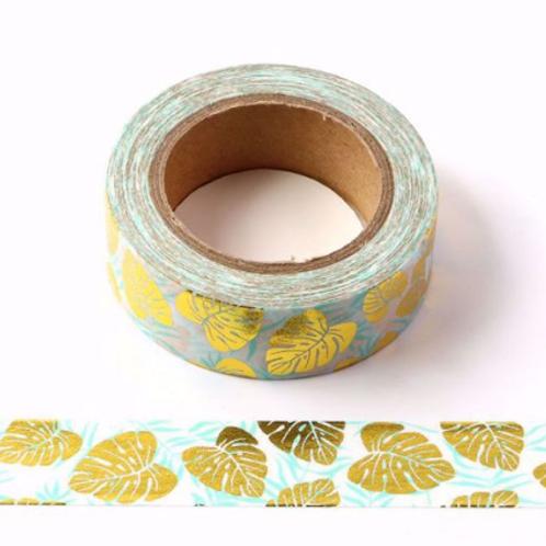 Masking tape foil feuilles de palmier or