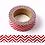 Thumbnail: F040 - Masking tape métallique 15mm foil blanc zig zag rouge