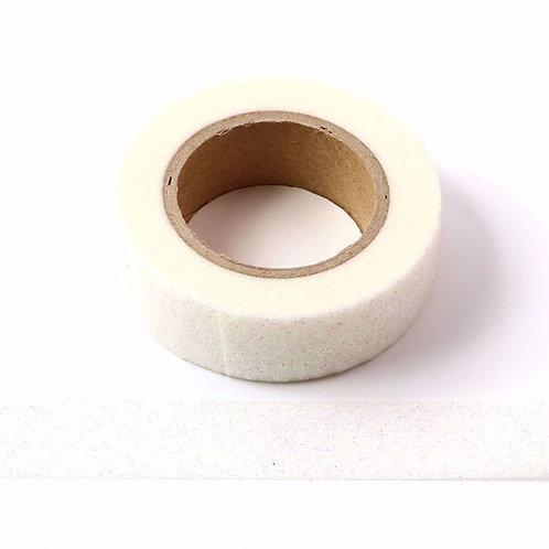 G044 - Masking tape 15mm  Paillettes blanc irisé glitter