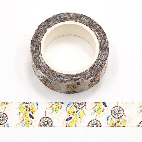 Masking tape  métallique 15 mm motif piège à rêves