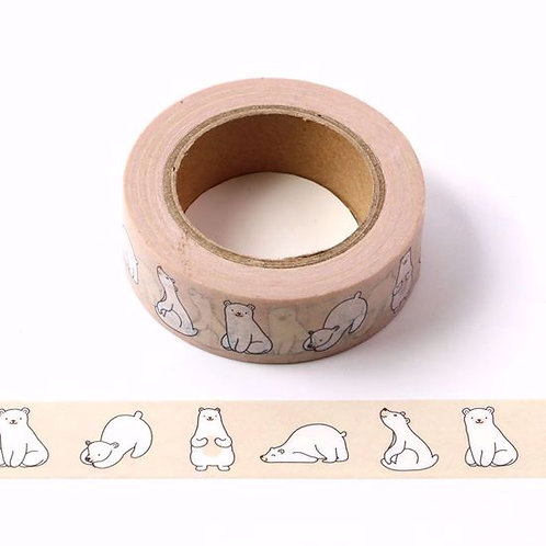 Masking tape ours polaire 15mm x 10m