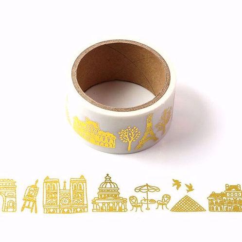 Masking tape foil Monuments Paris 25mm x 5m