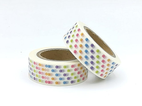 W326 - Masking tape pois multicolores