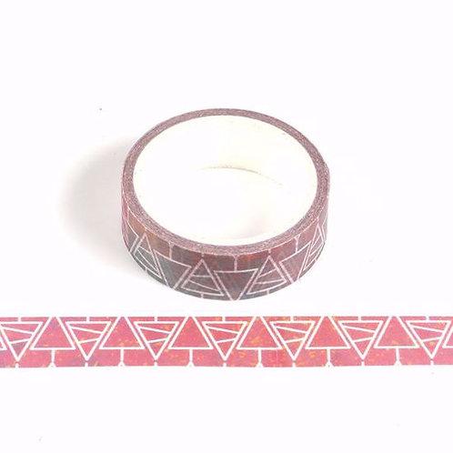Masking tape rouge sapin blanc 15mm x 5m