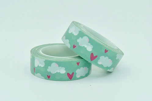 W210 - Masking tape coeurs + nuages