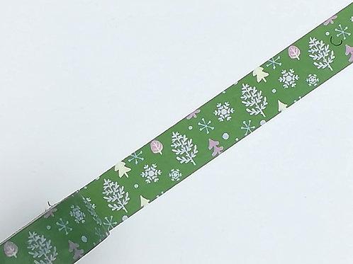 Masking tape vert arbre sapin Noël flocon