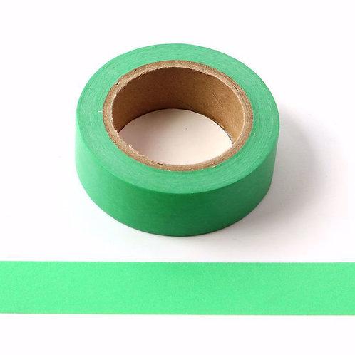 Masking tape vert gazon couleur uni basique  design  15mm x 10m