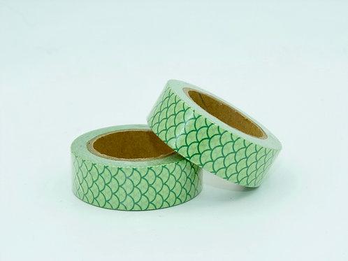 W197 - Masking tape motif floral vert