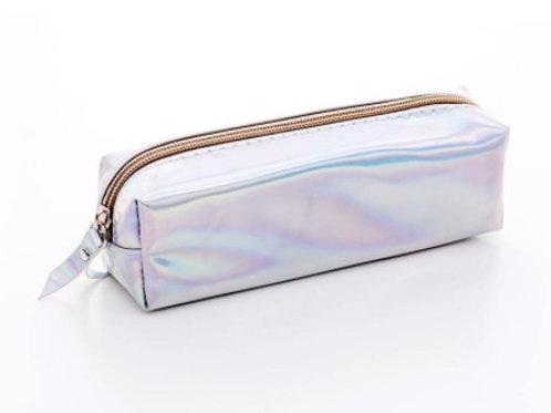 Trousse holographique - argentée
