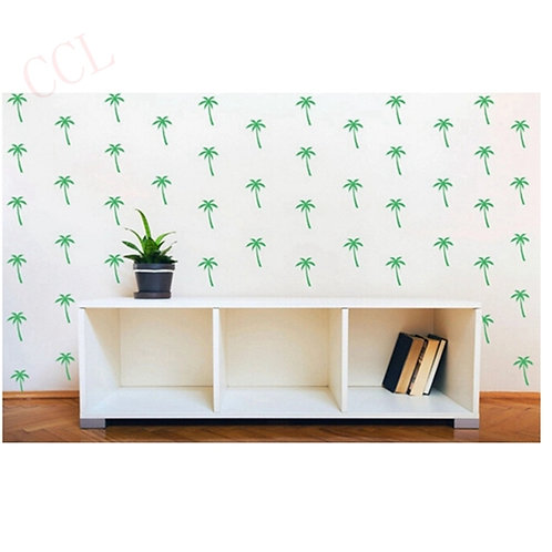 Planche de 8 stickers decal Palmiers 6 x 10 cm