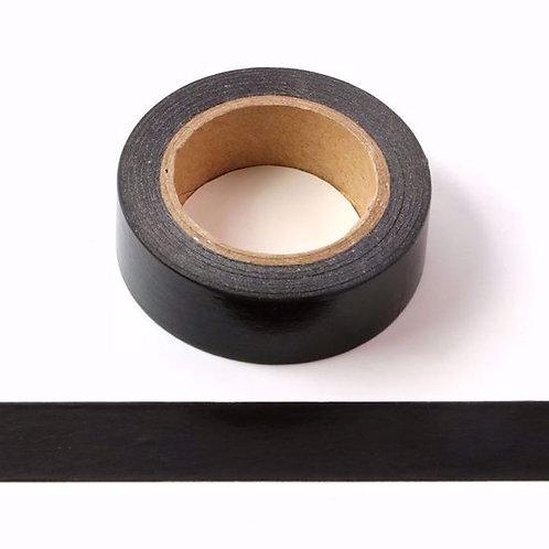 Masking tape noir uni couleur unie basique fun  design 15mm x 10m