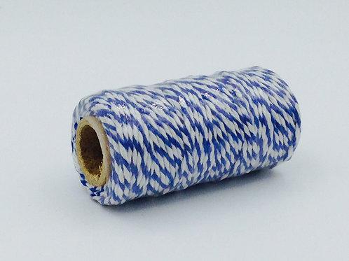 BT004 - Bobine de 20m de Baker's Twine bleu marine/blanc 12 plis