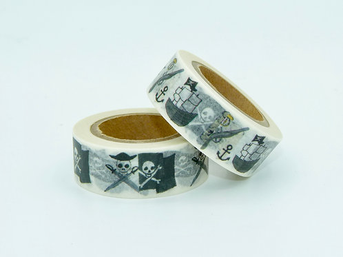 W188 - Masking tape blanc pirates