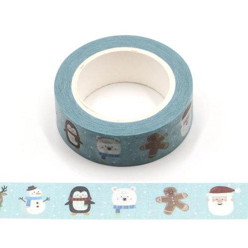 W531 - Masking tape 10m pingouins