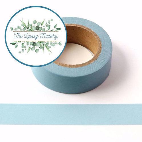 Masking tape bleu clair couleur uni basique  design  15mm x 10m