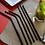 Thumbnail: 4 Pailles inox noir 21 cm, courbées ou droites, zéro déchet