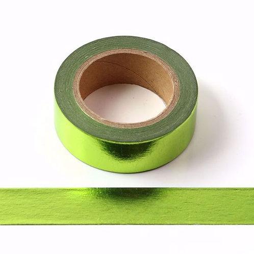 F065- Masking tape métallique 15mm foil vert clair