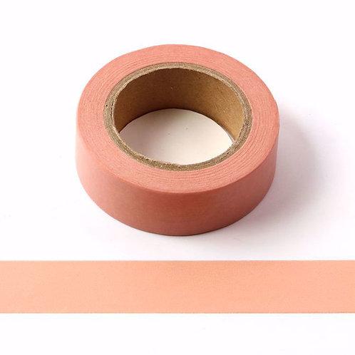 Masking tape couleur unie saumon - 15mm x  10m