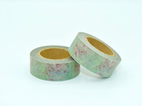W076-  Masking tape floral feuilles roses design  15m