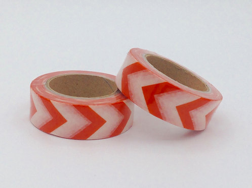 Masking tape chevrons orange halloween 15mm x 10m