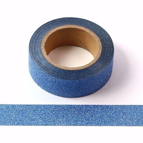 Masking tape 15mm  Paillettes bleu glitter
