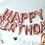 Thumbnail: Ballons Happy Birthday Rose Gold Banner balloons