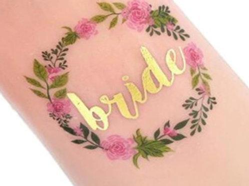 6Tatouages temporaires Team bride et Bride - EVJF mariée -floral