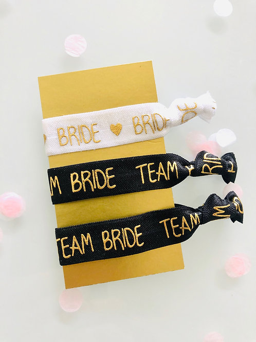 Bracelet pour EVJF mariée et Team bride en rose ou noir