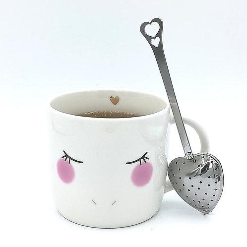 Infuseur à thé coeur inox