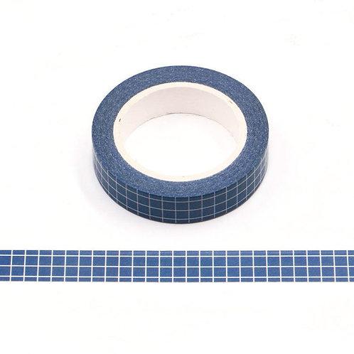 Masking tape grille planner agenda bleu  10m