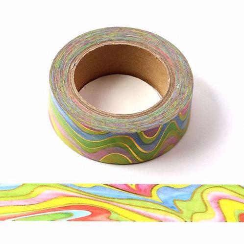 F147 - Masking tape foil vagues multicolores
