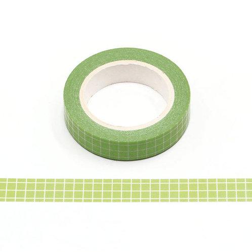 W501 - Masking tape 10m grille planner vert