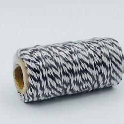 BT006 - Bobine de 20m de Baker's Twine noir/blanc 12 plis