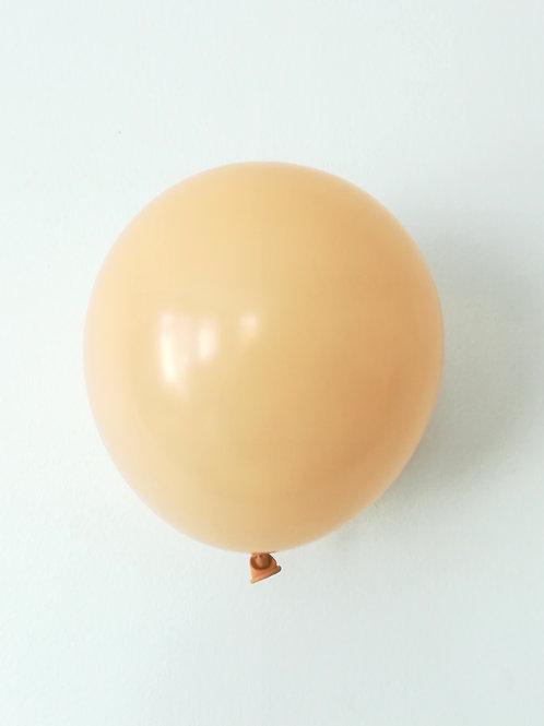 10 ballons pêche blush 15 cm