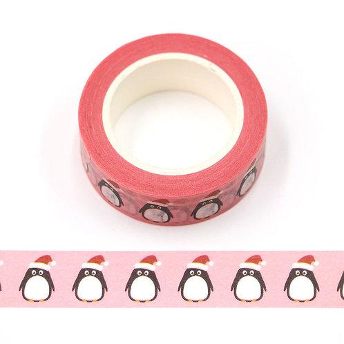 Masking tape 15 mm motif pinguoins