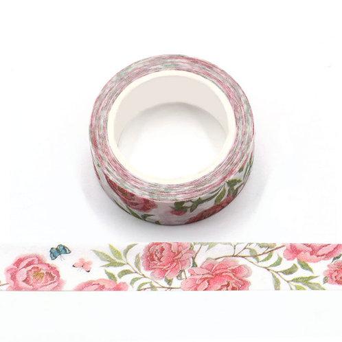 Masking tape paillettes roses du jardin  glitter  G071