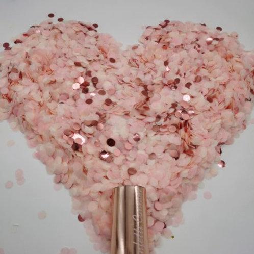 Cannon à confettis roses