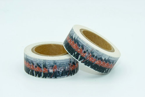 W190 -  Masking tape garde royale Anglaise fun design  15mm
