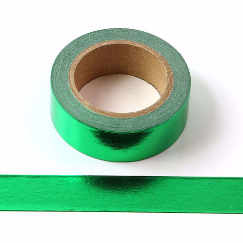 Masking Tape Foil vert métallique 15mm x 10m