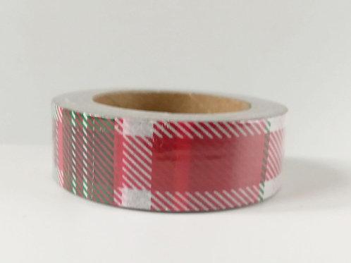 Masking tape tartan rouge