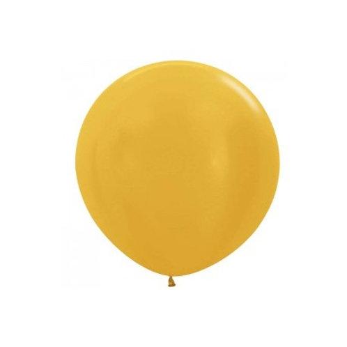 Ballon latex Géant 90 cm or doré