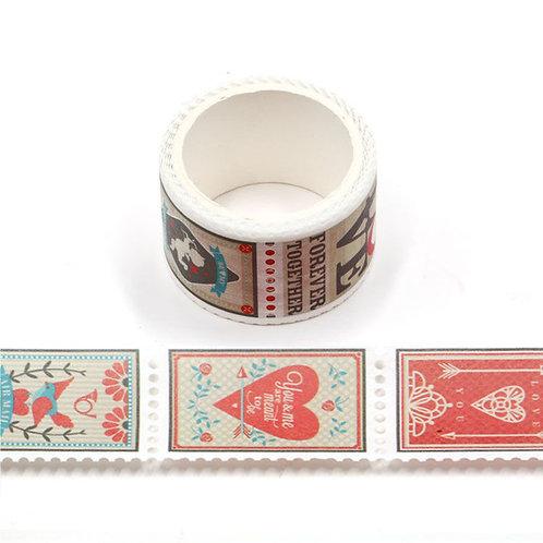 Masking tape prédécoupé coeurs style scandinave timbre 20mm x 3m